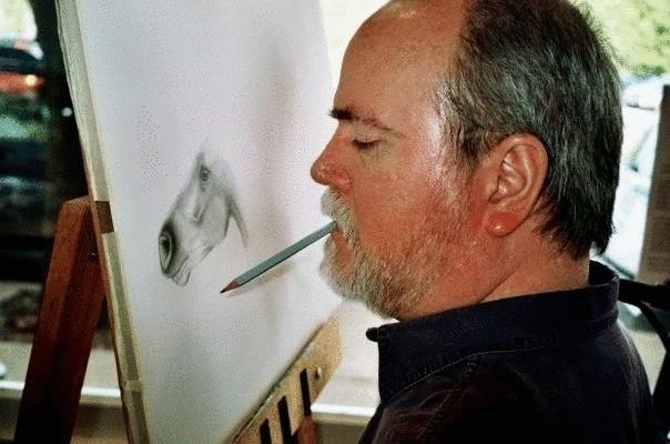 Дуг Лэндис - парализованный художник, рисующий ртом (8фото)