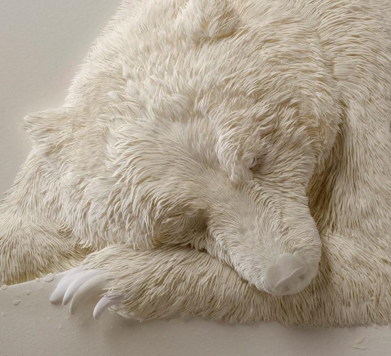 Бумажные скульптуры животных от Кэлвина Николлса (33 фото)
