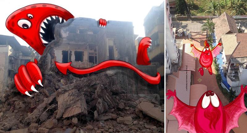 Мумбаи захватывают монстры, и это чертовски мило (14фото)