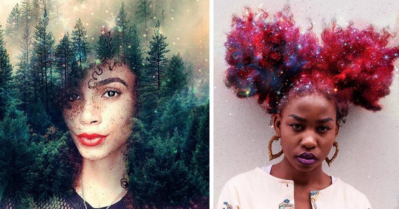 Художник превращает прически в галактики, чтобы чернокожие женщины гордились африканским наследием (13фото)