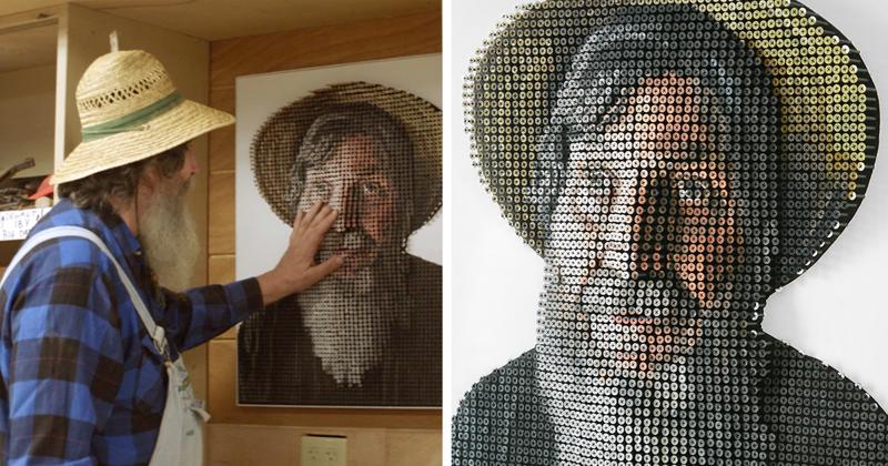 3D-портрет из шурупов, который теперь может