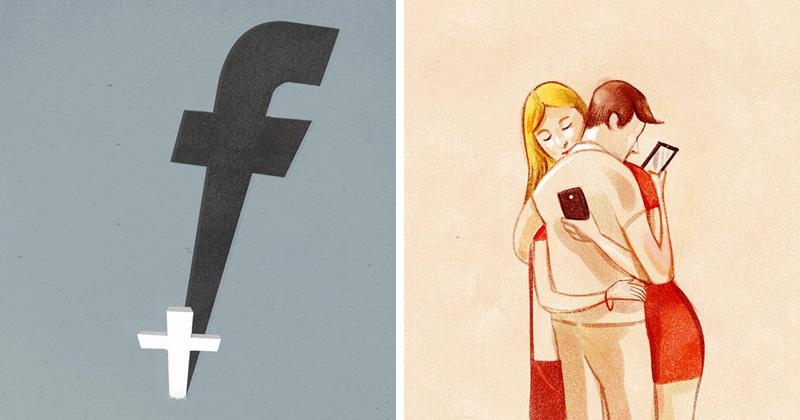Печальная правда о современном мире в иллюстрациях Марко Мелграти (53фото)