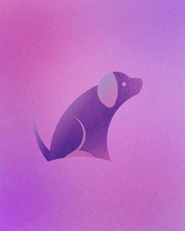 Художница создала 13 животных из 13 кругов, вдохновившись логотипом Twitter (13гиф)