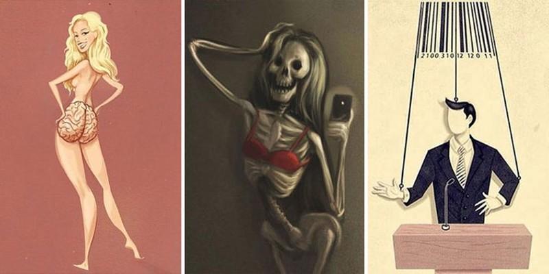 Вся правда современной жизни в саркастических иллюстрациях (26фото)