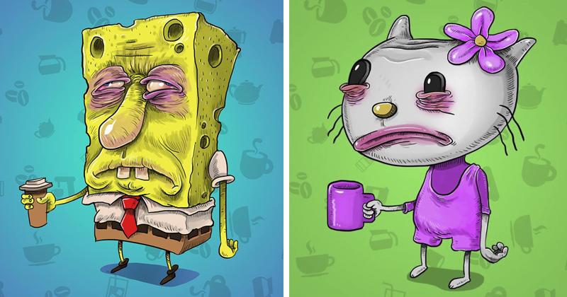 Так выглядят мультяшки до того, как выпьют свой утренний кофе! (14фото)