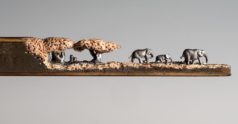 Эти скульптуры, вырезанные из обычных карандашей, поражают воображение! (18фото)