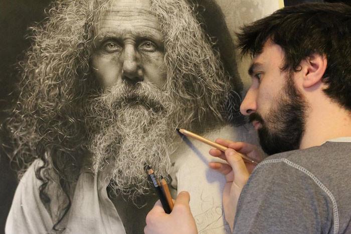 Сотни часов работы и годы обучения: портреты карандашом в стиле мастеров Ренессанса (10фото)