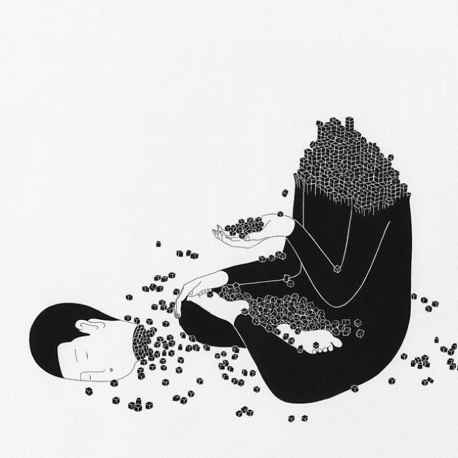 Художник рисует эмоции, которые каждый испытывает, но не может описать (14фото)