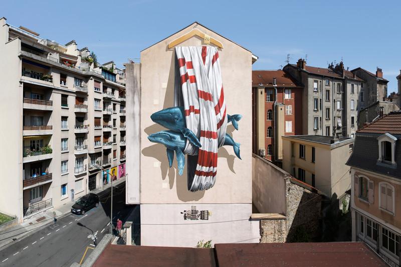 Дуэт уличных художников и их экологические граффити (27фото)