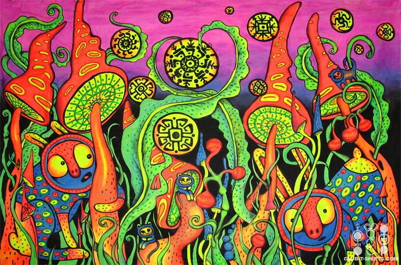 Психоделические картины, абстракции, искусство - первый сборник (25фото)