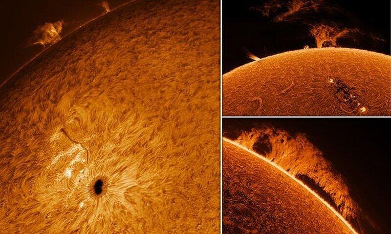 Пенсионер увлекся астрофотографией и сделал потрясающие снимки Солнца (11фото)