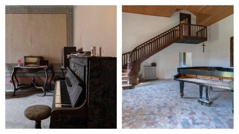 Таинственные забытые пианино (22фото)