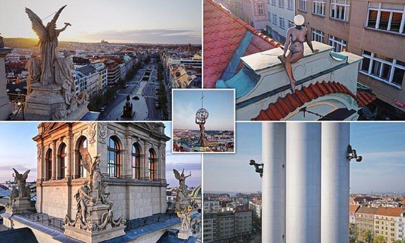 Фигуры на крышах - таинственные символы Праги (19фото)