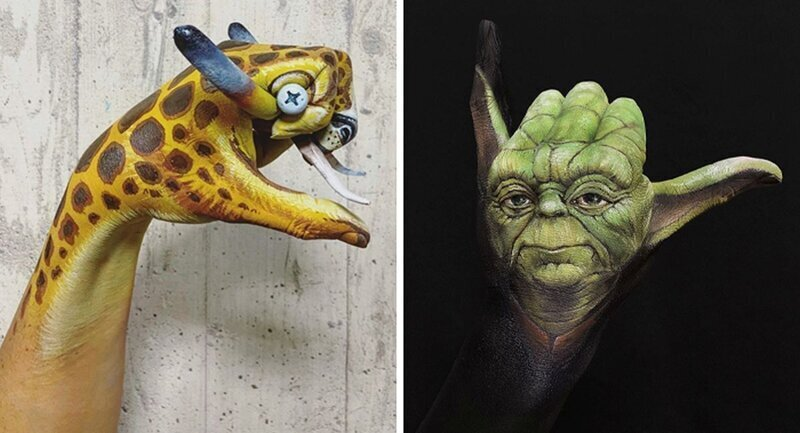 Впечатляющий боди-арт со спецэффектами от японского визажиста (51фото)