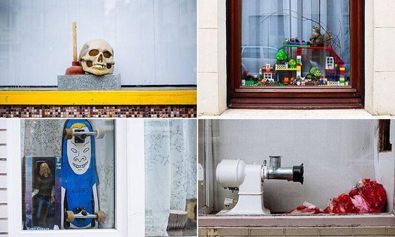 Прирожденные дизайнеры: жители Бельгии и их причудливые оконные инсталляции (16фото)