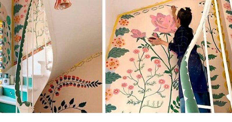 Художница на карантине разрисовала весь дом (19фото)
