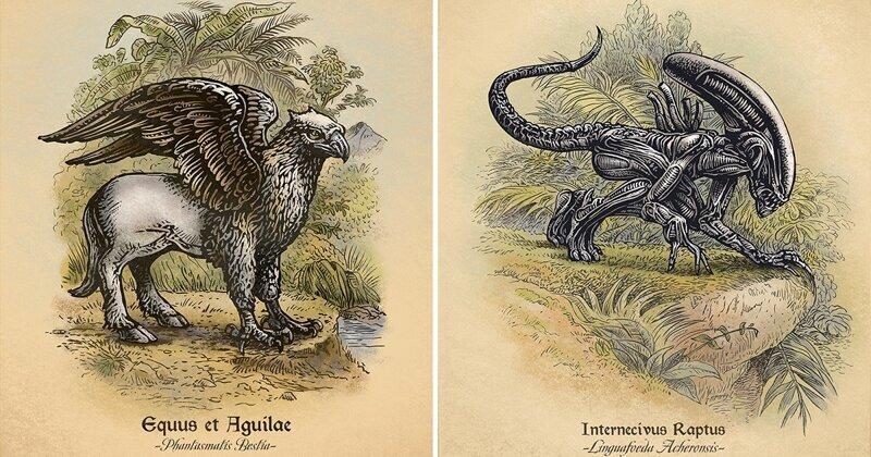 Иллюстратор создал настоящий учебник для Хогвартса (8фото)