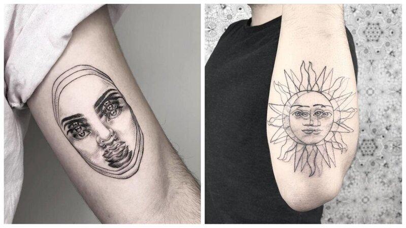 Девушка делает татуировки, от которых двоится в глазах (24фото)