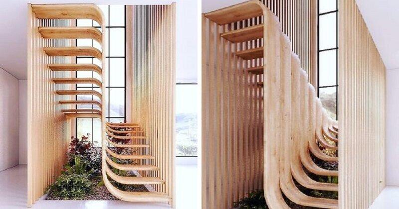 Иранский архитектор придумал лестницу в форме ДНК (14фото)