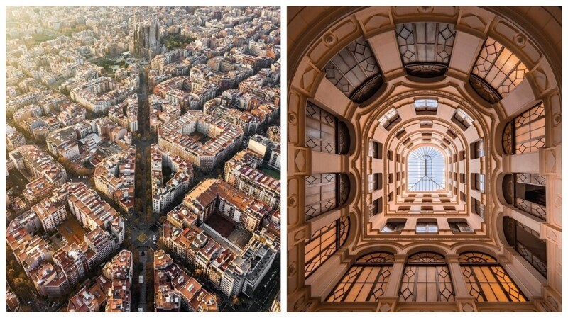 Самый симметричный город в мире: аэроснимки Барселоны, от которых захватывает дух (18фото)