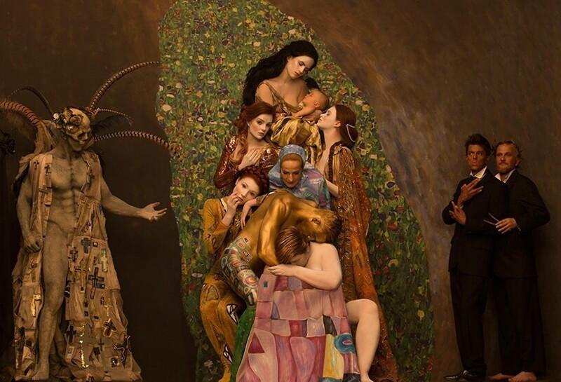 Инсценировка картин Gustav Klimt с живыми моделями (11фото)