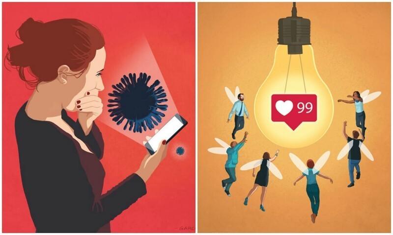 40 честных иллюстраций, открывающих глаза на современное общество (41фото)