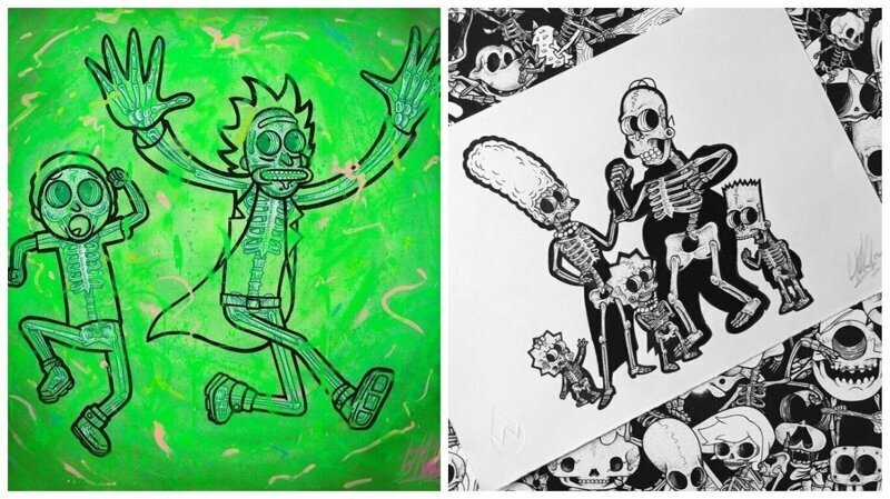 Художник отправил популярных мультперсонажей на рентген (36фото)