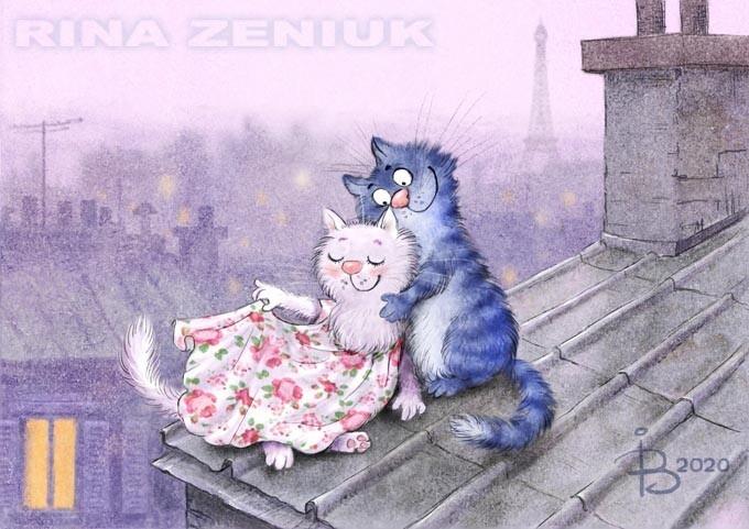 Коты минской художницы Ирины Зенюк. Ассорти. 5 часть (50фото)