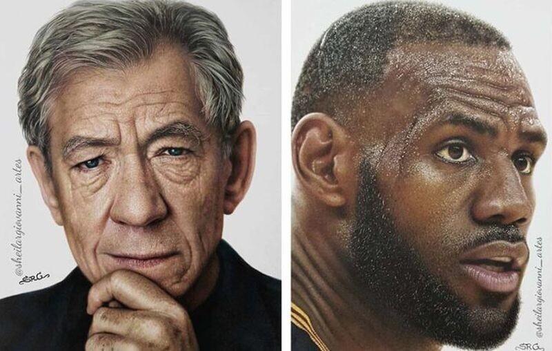 Карандашные портреты известных личностей, которые тяжело отличить от фотографий (23фото)