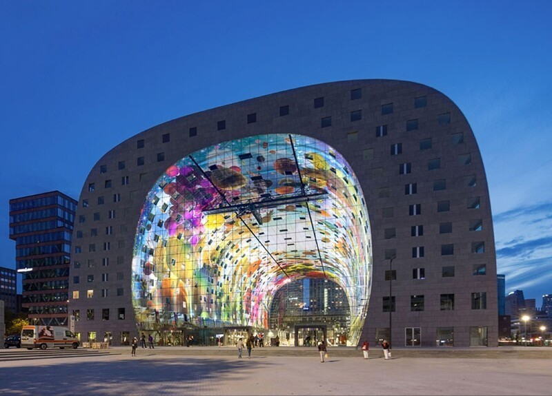 Современная Сикстинская капелла: огромная цифровая фреска в Роттердаме (24фото)