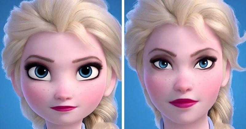 Персонажи диснеевских мультфильмов с более реалистичными лицами (10фото)