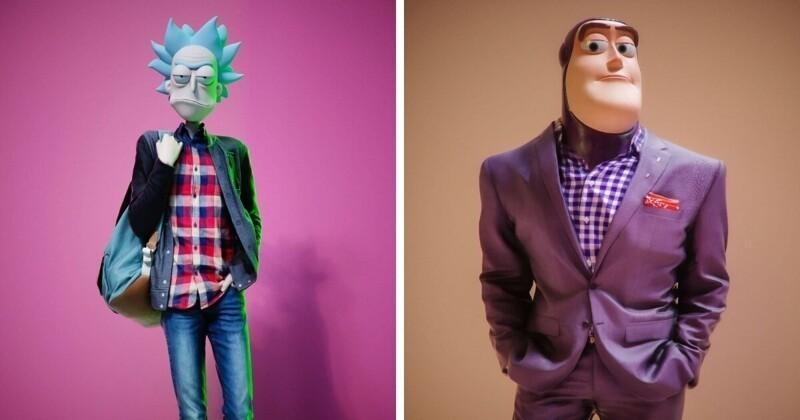 Египетский художник создал персонажей мультфильмов с настоящими человеческими телами (15фото)