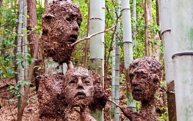 Японский скульптор создал жутковатый, но красивый Лес Отчаяния (19фото)