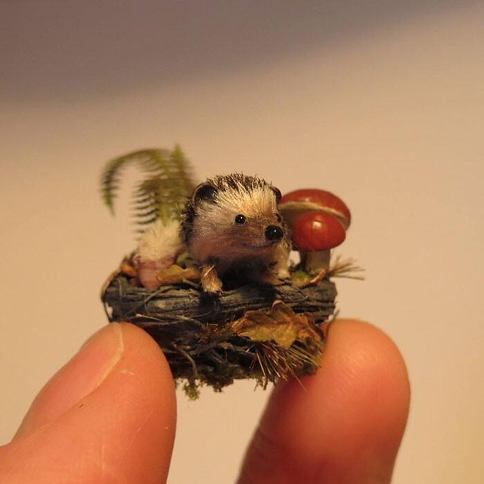 Удивительные реалистичные миниатюры животных (10фото)