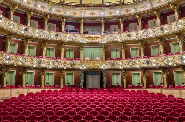 Фотограф показал потрясающие интерьеры оперных театров, какими их видят исполнители (7фото)
