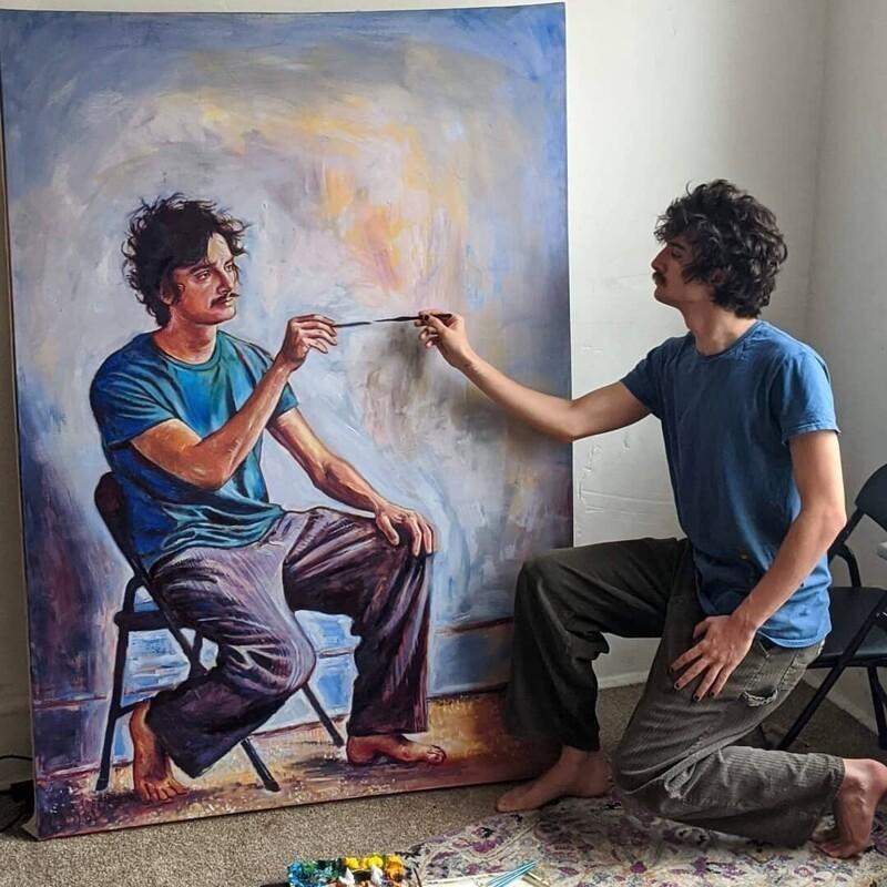Художник нарисовал себя в серии невероятных рекурсивных автопортретов (5фото)