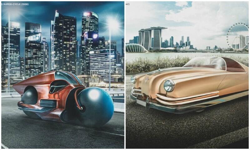 Как футуристы XX века представляли себе автомобили будущего (8фото)