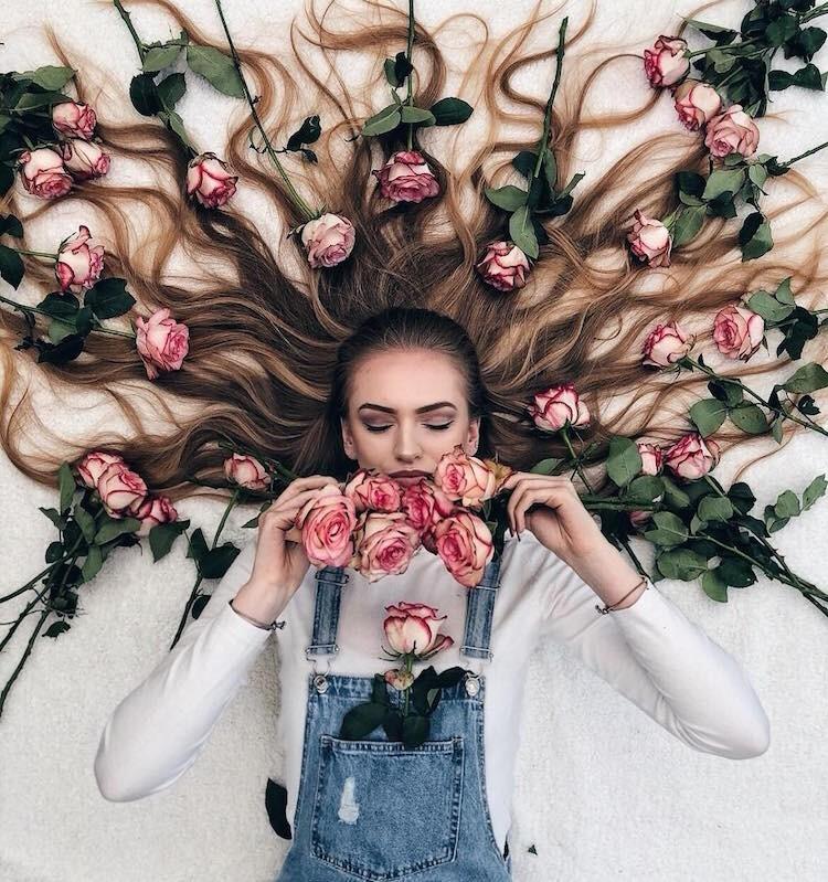 Современная Рапунцель из Голландии создает «картины» с помощью своих волос (14фото)