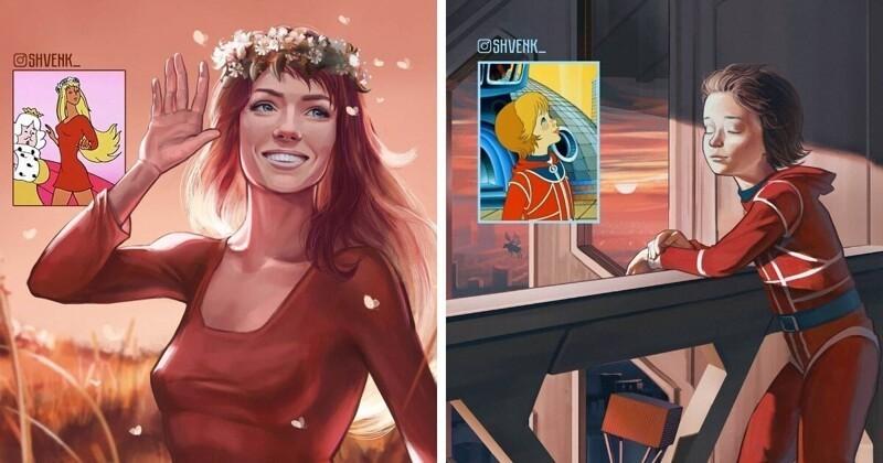 Взгляд по-новому: персонажи советских и российских мультфильмов (8фото)