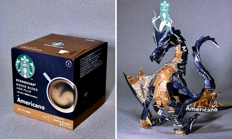 Художник из Японии превращает ненужные упаковки в произведения искусства (17фото)
