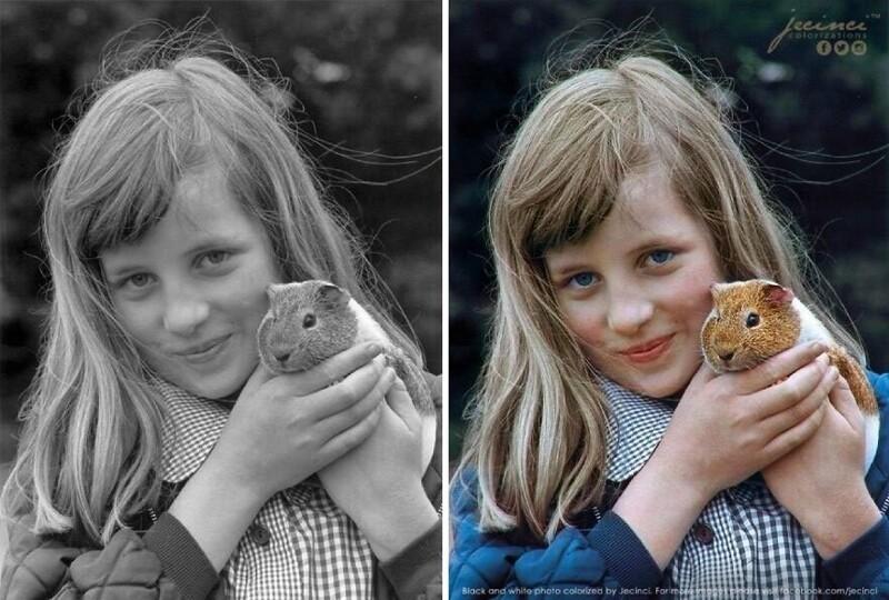 Оживляя воспоминания: колоризированные знаменитые черно-белые фото (26фото)