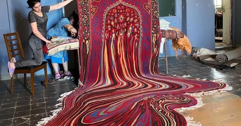 Азербайджанский ткач создает ковры в стиле Дали (31фото)