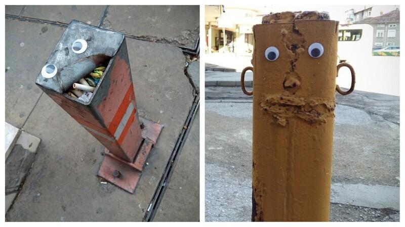 Болгарский художник оживил городские улицы смешными глазастиками (23фото)