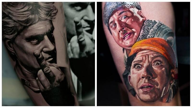 Гиперреалистичные портретные татуировки от Олега Шепеленко (26фото)