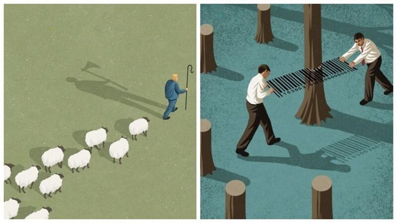 Что не так с современным обществом: жесткие и честные иллюстрации Джона Холкрофта (28фото)