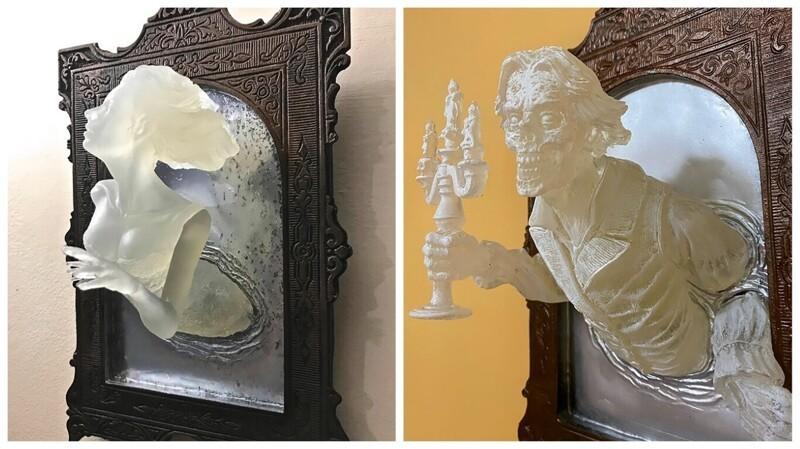 Художник создает жуткие скульптуры, похожие на призраков викторианской эпохи (9фото)