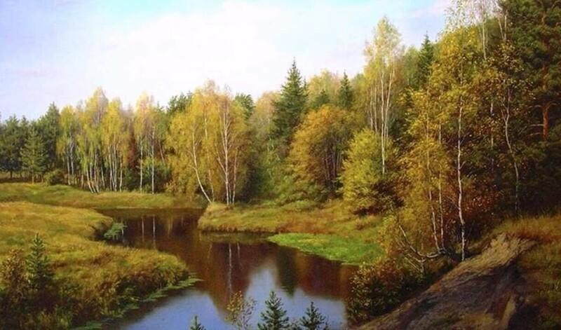 Пейзажи художника Виталия Геннадьевича Зайцева (25фото)