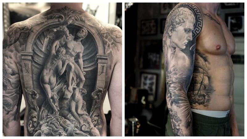 Удивительные черно-белые татуировки, которые можно выставлять в музее (29фото)