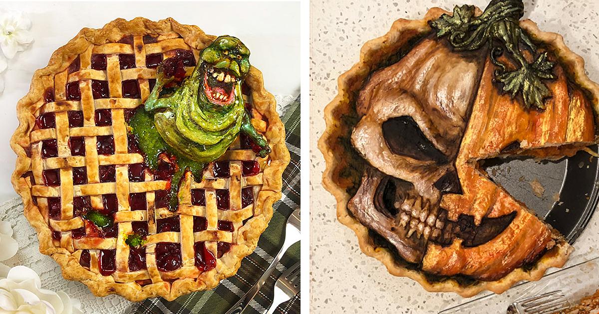 29 страшно прекрасных пирогов к Хэллоуину (30фото)