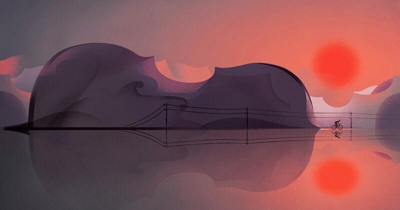 Бельгийский иллюстратор рисует жизнь в разрезе (10фото)